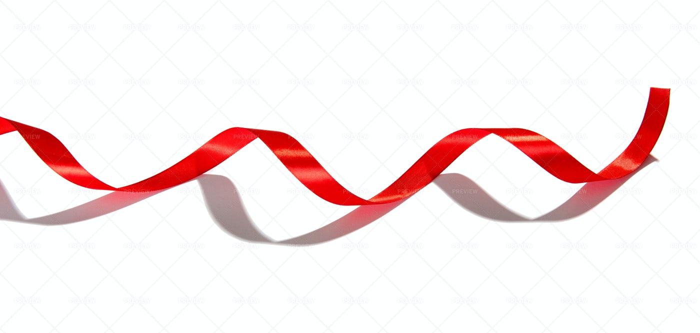 Spiralling Red Ribbon: Stock Photos