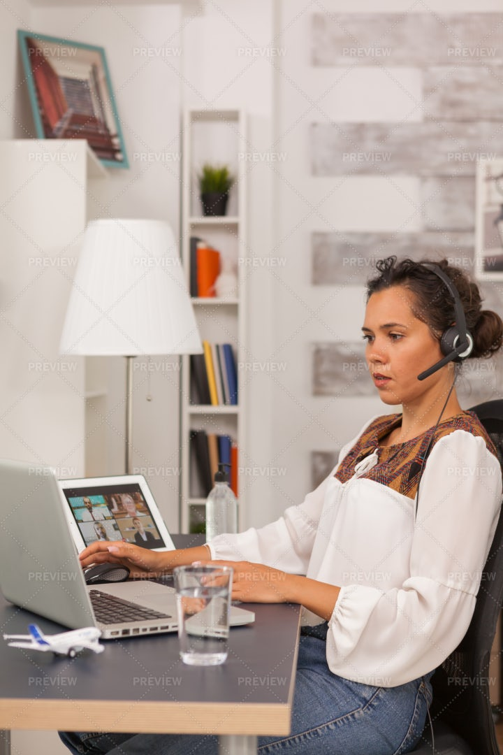 Online Video Conference: Stock Photos