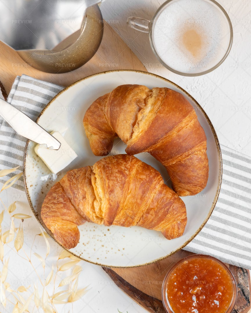 Croissants And Coffee: Stock Photos