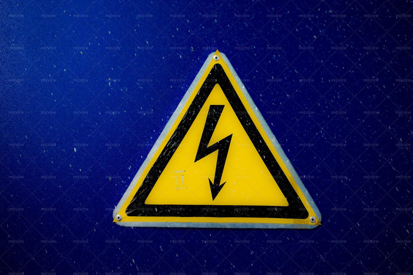 Electricity Danger Sign: Stock Photos