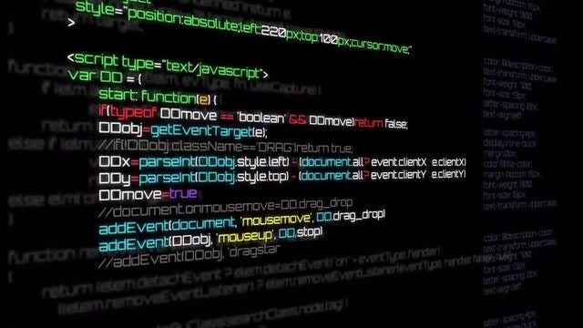 Computer Code Background: Stock Motion Graphics