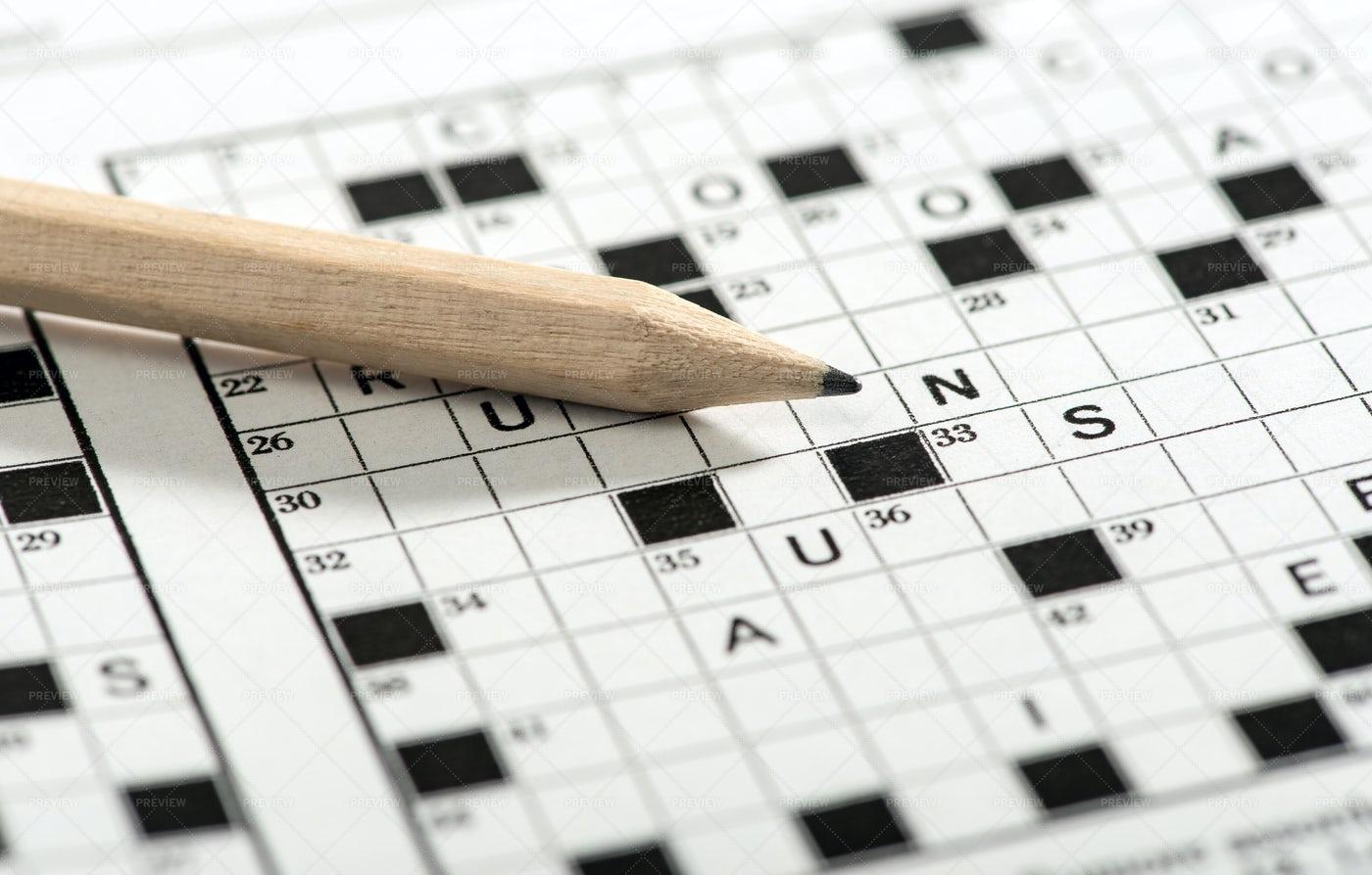 Crossword Puzzle Game: Stock Photos