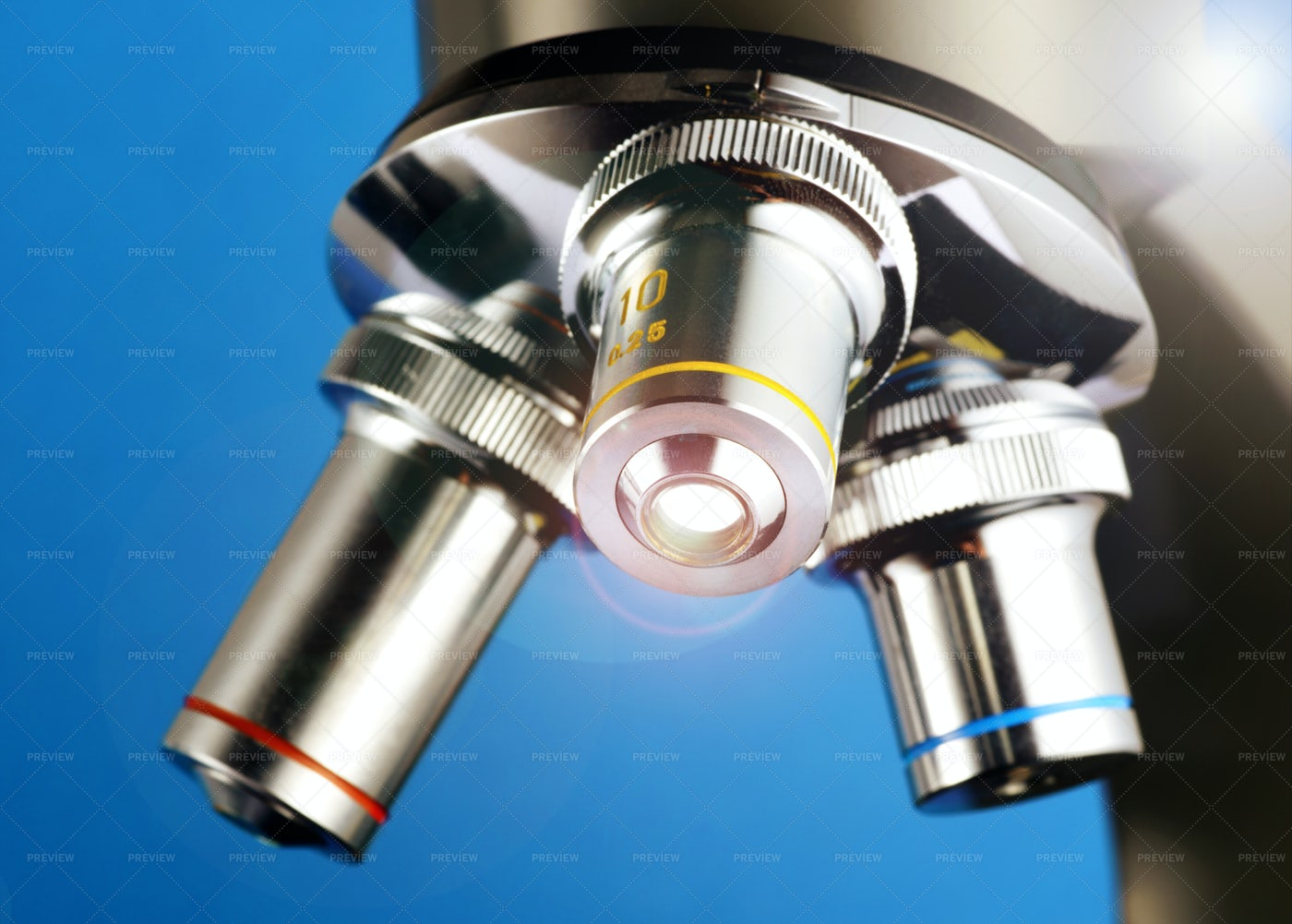 Lenses Of Microscope: Stock Photos