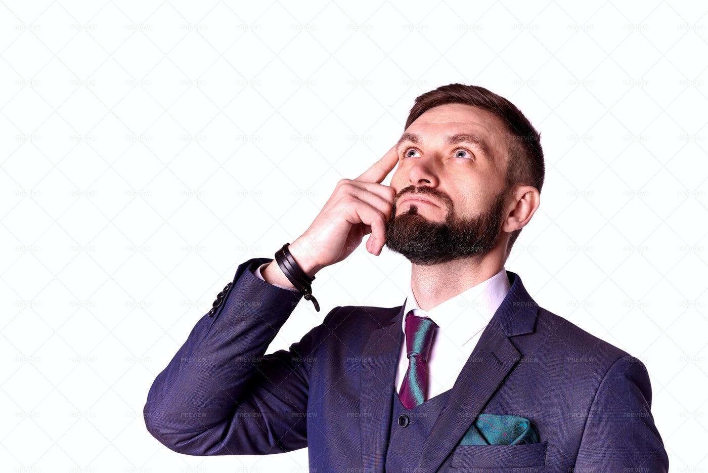 A Thinking Businessman: Stock Photos