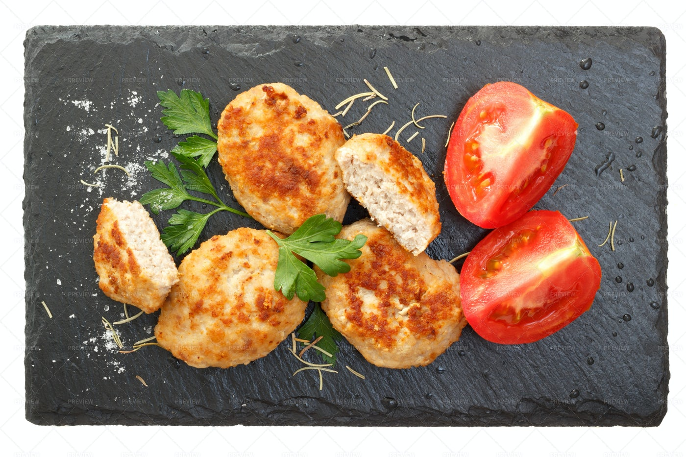 Cutlets On A Plate: Stock Photos