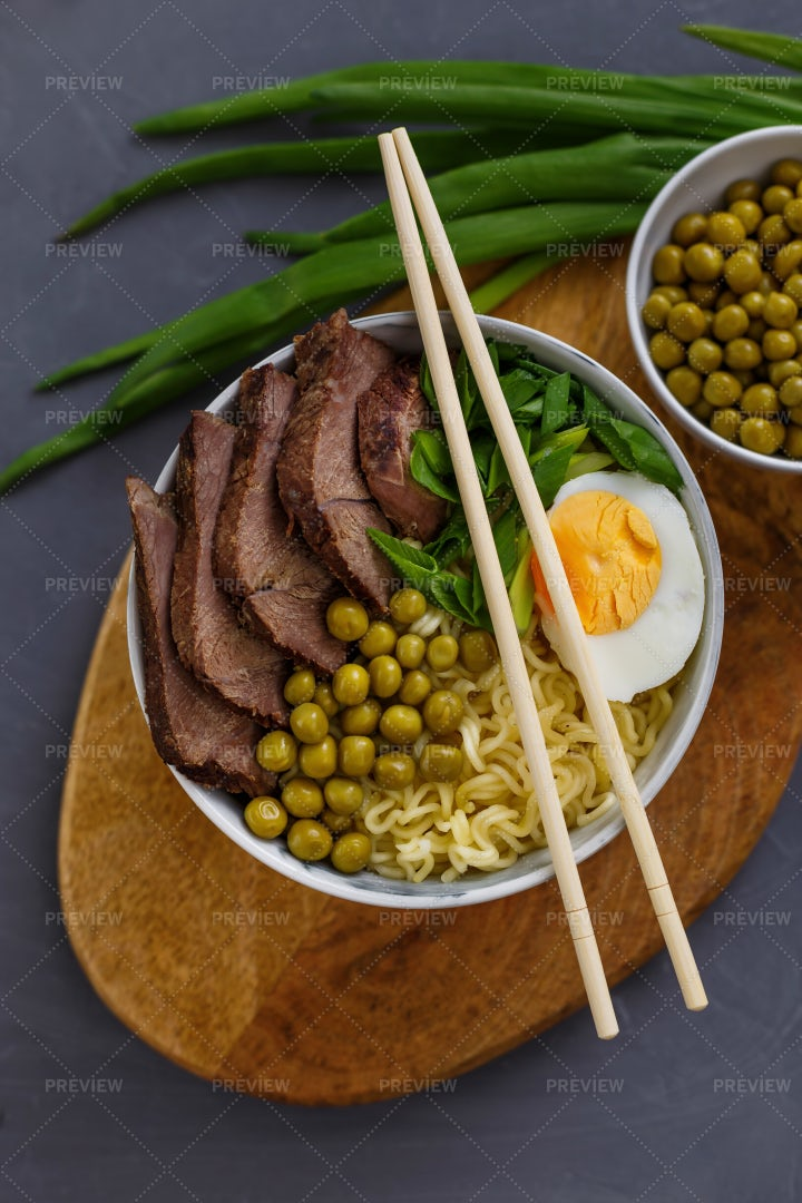Asian Soup In A Bowl: Stock Photos