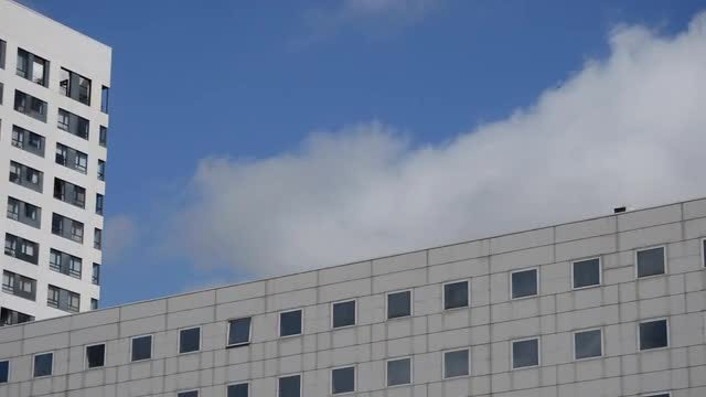 Modern Building Creeping Clouds: Stock Video