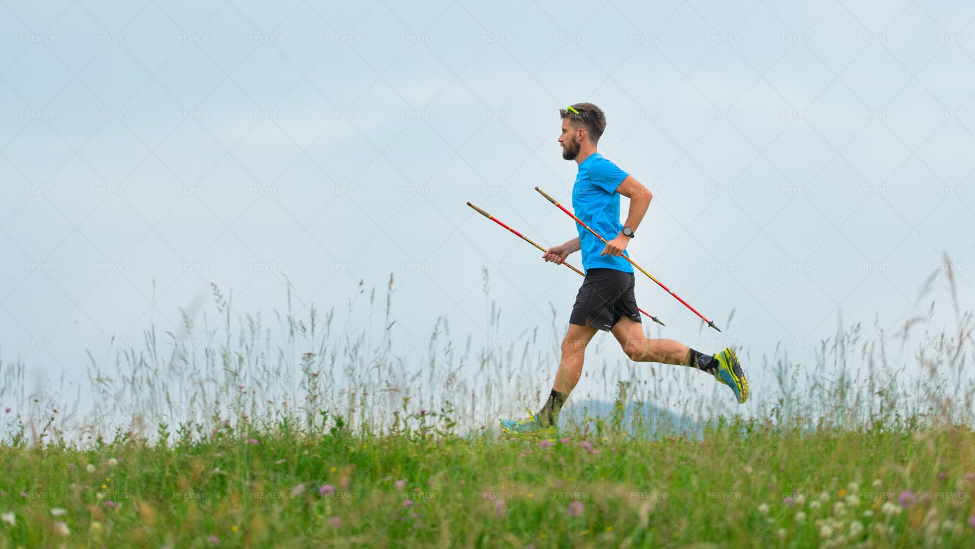 A Mountain Runner: Stock Photos