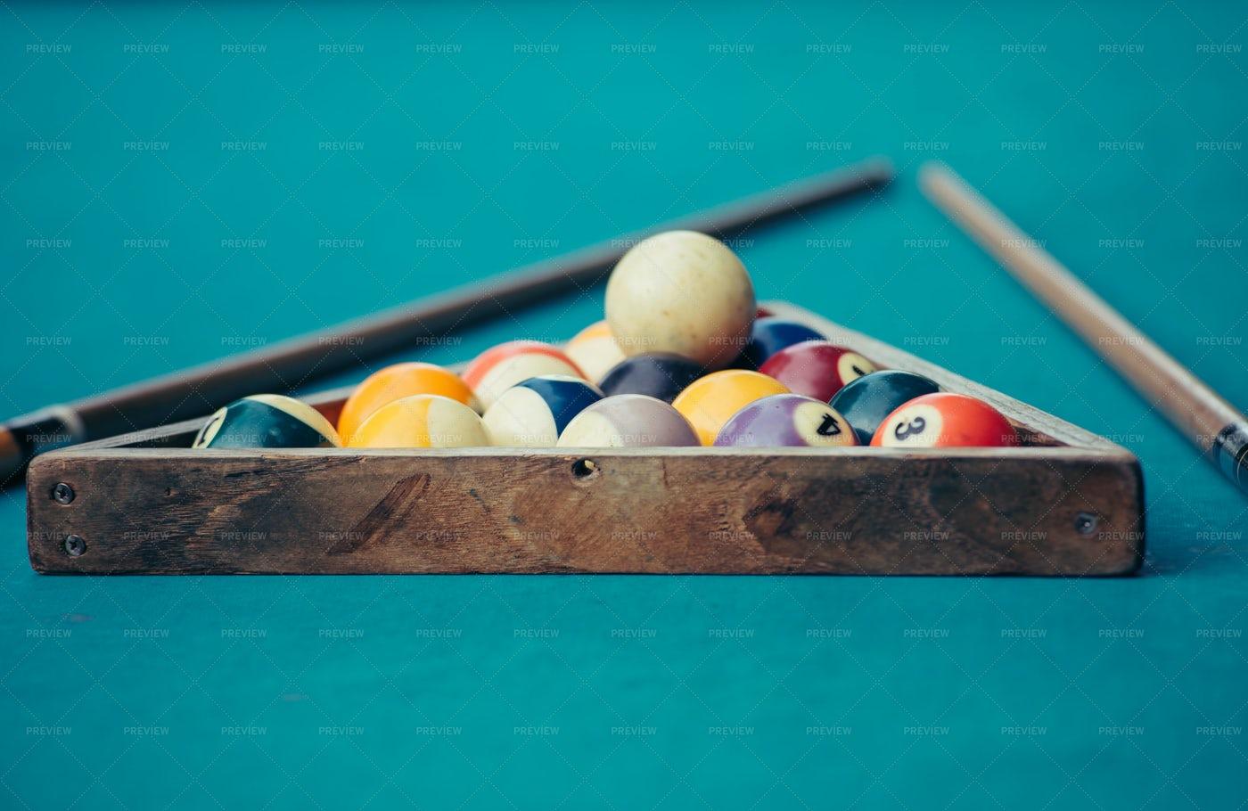 Billiards Table Game: Stock Photos