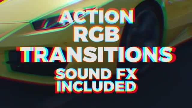 Action RGB Transitions: Premiere Pro Templates