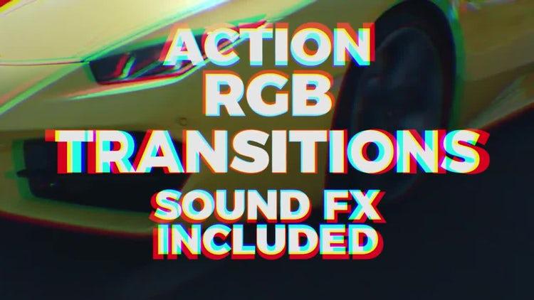 Action RGB Transitions: Premiere Pro Templates