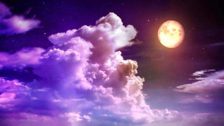 Purple Magical Sky: Motion Graphics