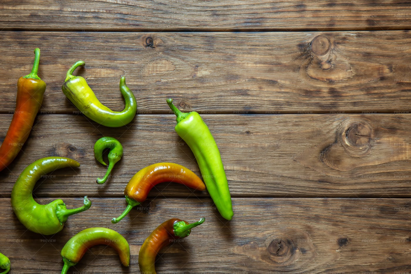 Green And Red Peppers: Stock Photos