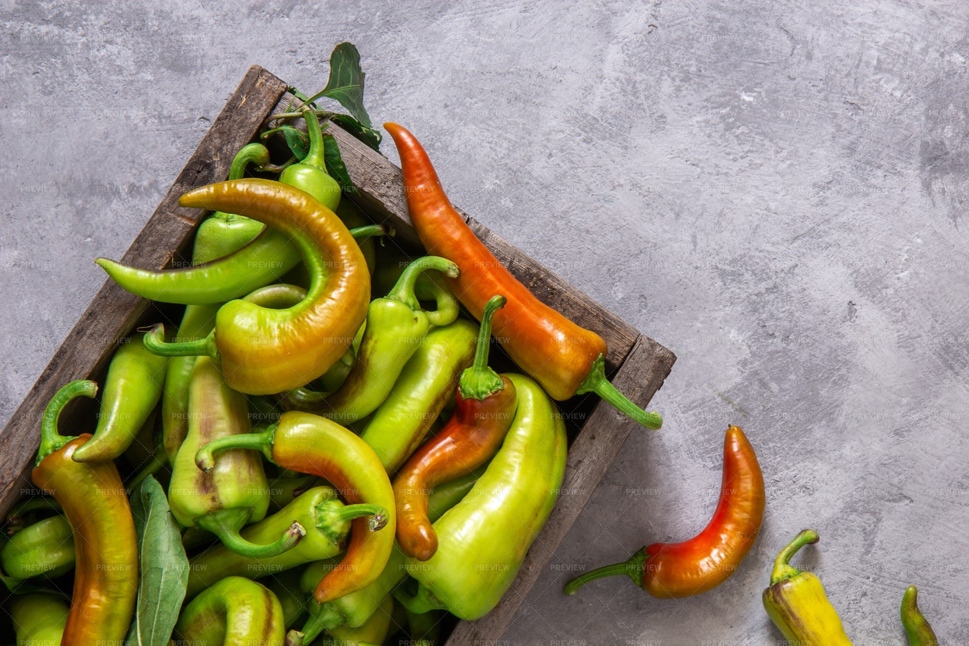 Boxed Peppers: Stock Photos