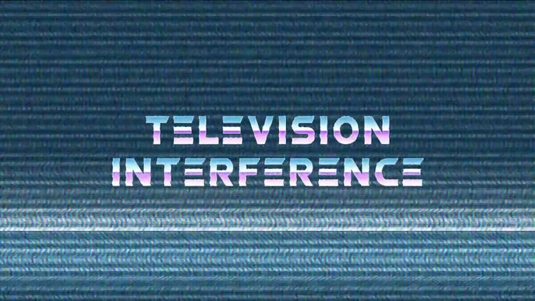 Television Interference: Motion Graphics