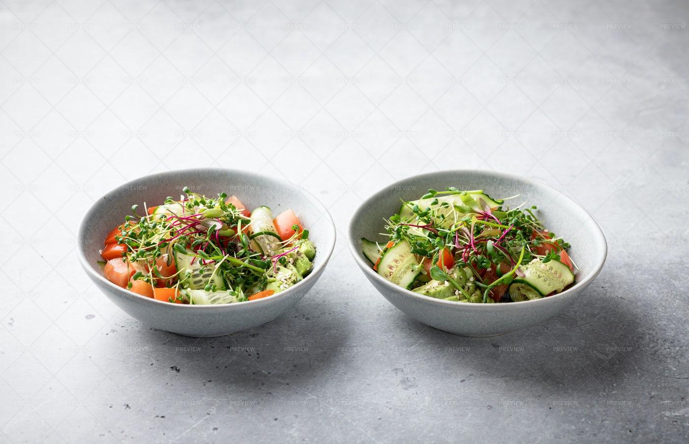Cucumber And Tomato Salad: Stock Photos