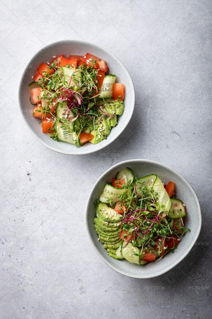 Bowls Of Salad: Stock Photos