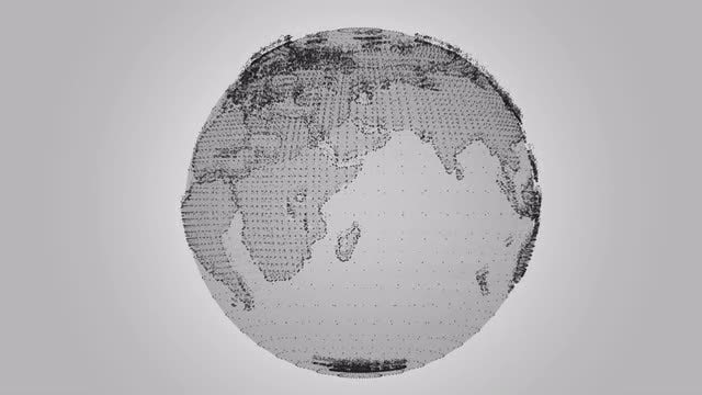 Digital Earth Rotating: Stock Motion Graphics