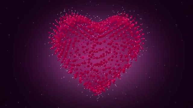 Beating Heart - Particles: Stock Motion Graphics