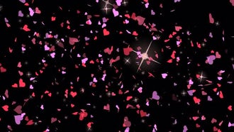 Valentines Hearts Confetti : Motion Graphics