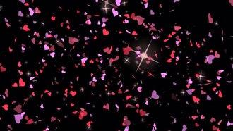 Valentines Hearts Confetti : Motion Graphics