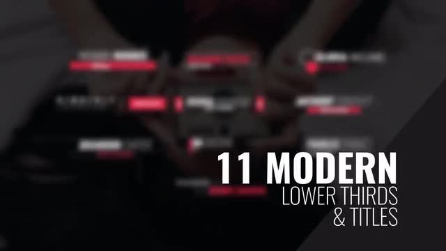 4k Modern Lower Thirds & Titles: After Effects Templates