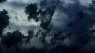 Dramatic Stormy Dark Clouds: Stock Video