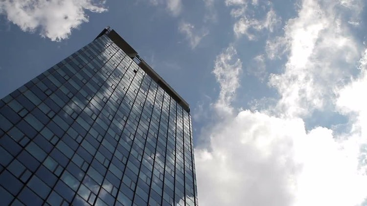 Modern Building And Sky : Stock Video