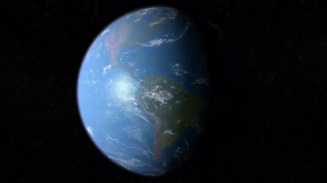 Earth Rotation Loop: Stock Motion Graphics