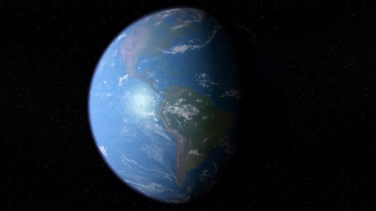 Earth Rotation Loop: Motion Graphics
