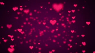 Valentine Hearts Background Looped Pack: Motion Graphics