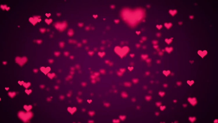 Valentine Hearts Background Looped Pack: Stock Motion Graphics