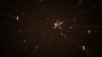 Golden Stars Background Video 4K: Motion Graphics