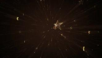 Golden Stars Background Video 4K: Stock Motion Graphics