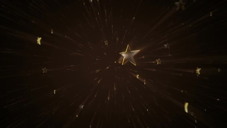 Golden Stars Background Video 4K: Stock Motion Graphics