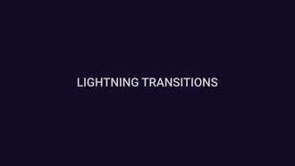 Lightning Transitions: Motion Graphics