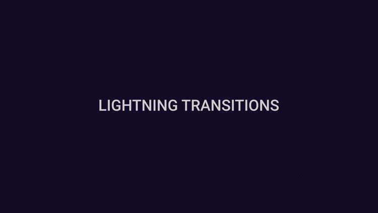 Lightning Transitions: Stock Motion Graphics