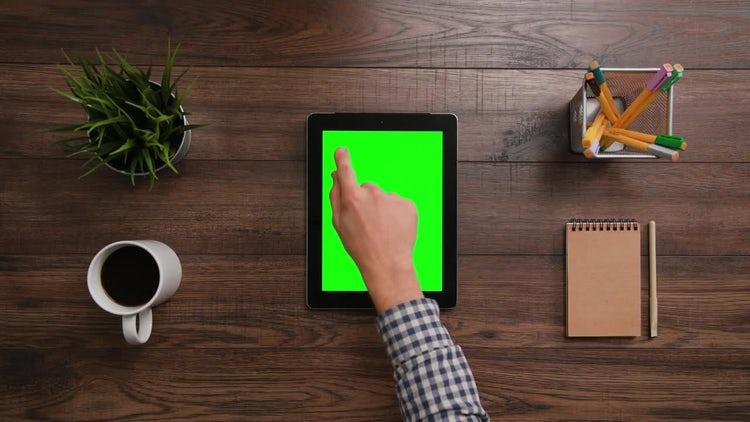 iPad - 1 Click Top Left: Stock Video