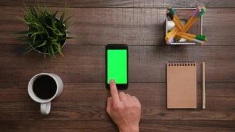 3 Right Scrolls Iphone Green Screen: Stock Video