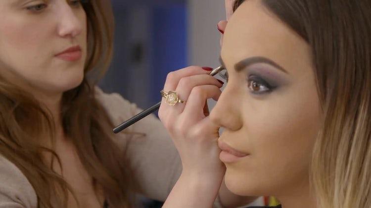 Beauty and Fashion - Eye Makeup: Stock Video