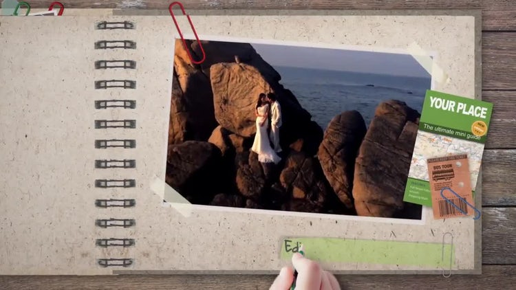 Kids Color the Photo Album: After Effects Templates