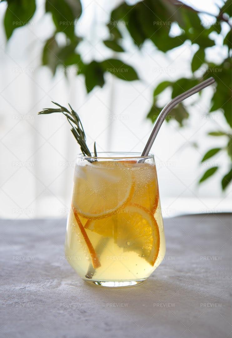 Lemonade With Orange: Stock Photos