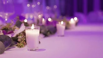 Table Setting For Party-Event: Stock Video