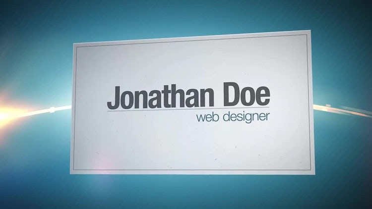 Business Card: After Effects Templates