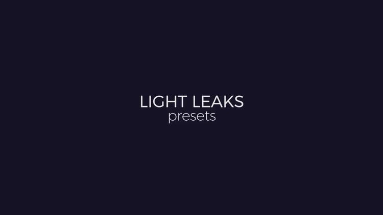 Light Leaks Generator: Premiere Pro Templates