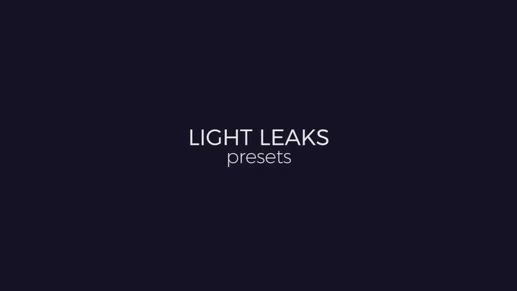Light Leaks Generator: Premiere Pro Presets