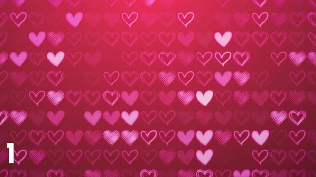 Hearts Backgrounds: Stock Motion Graphics
