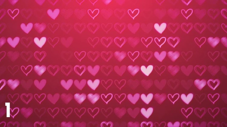 Hearts Backgrounds: Motion Graphics