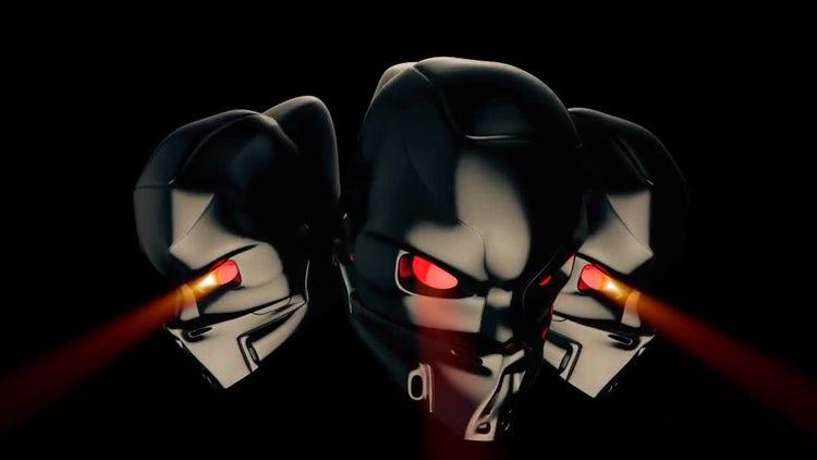Cyborg Heads VJ Loop: Motion Graphics