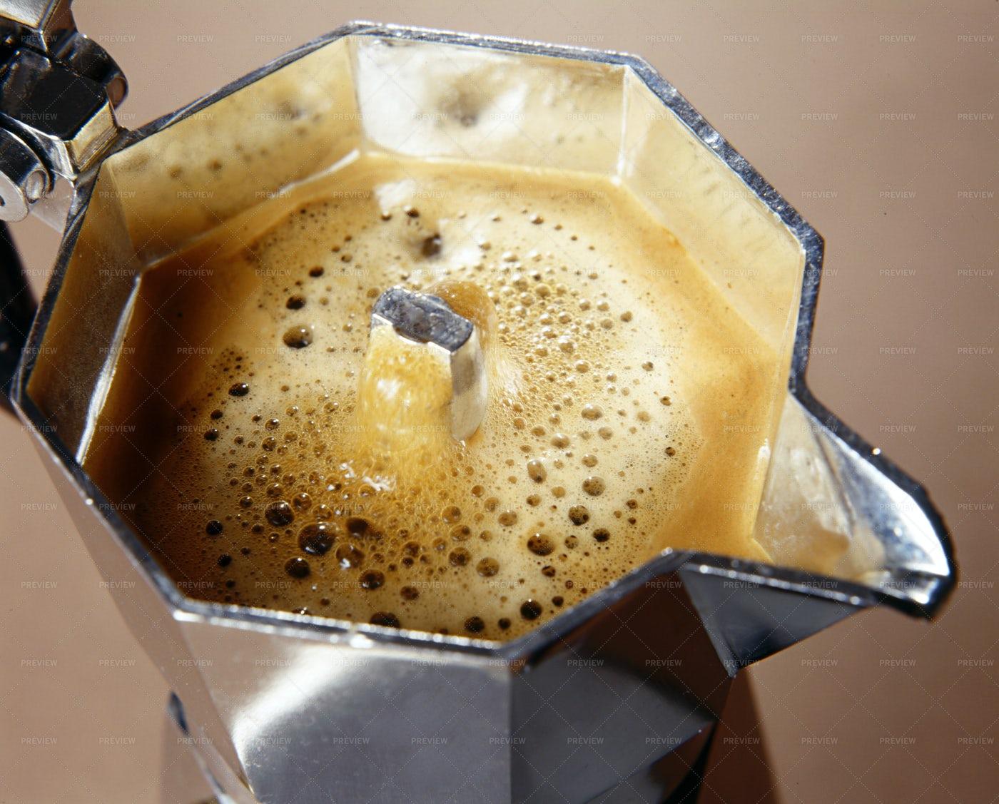 Freshly Percolated Coffee: Stock Photos